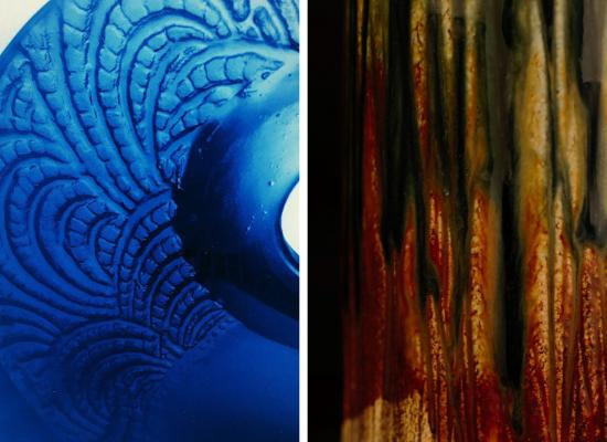 Works by Lou Pendergrast-Mathieson (glass) & Paul Pachter (clay)